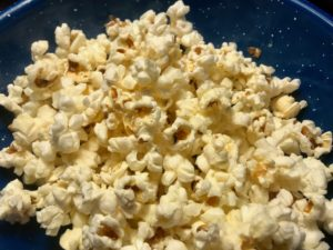 Bowl of buttery popcorn