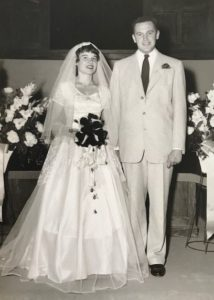 Photo of Henry and Erika Trapp, Jr. wedding day, June 22, 1957