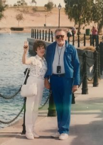 Henry and Erika Trapp, Jr. posing by waterfront