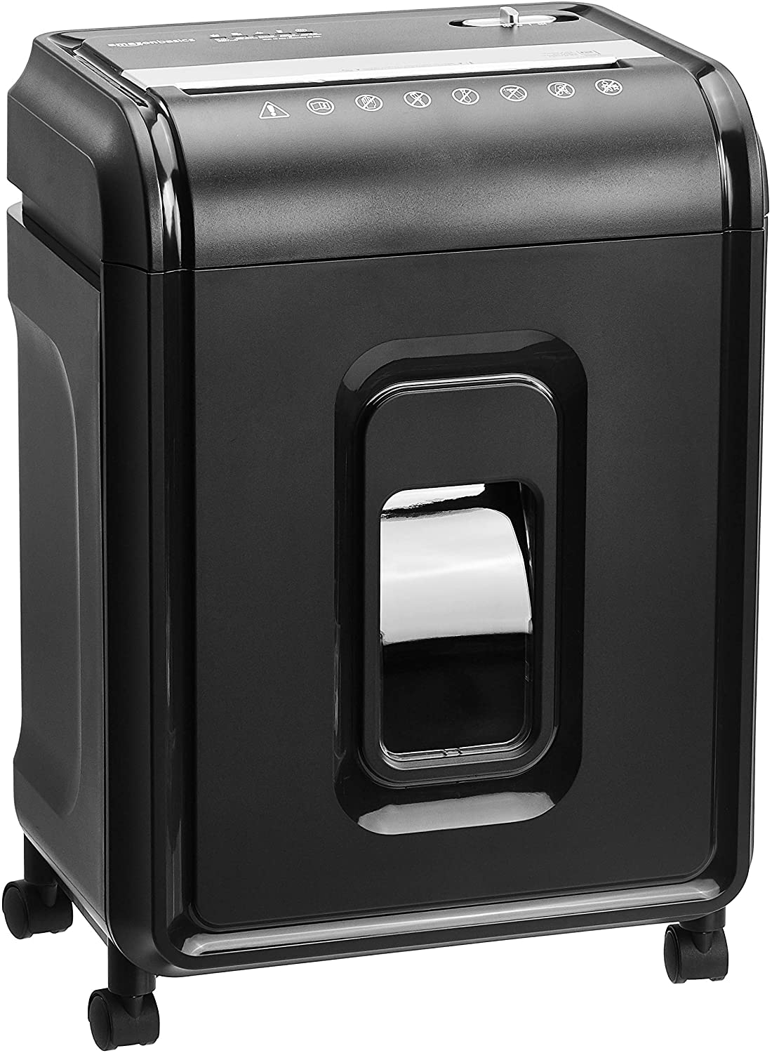 12-Sheet Capacity, Credit Card & CD Shredder with casters 5.7 gallons