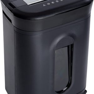 15-Sheet Capacity, Credit Card & CD Shredder with casters 6 gallons