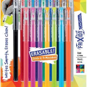 16-pack Assorted Colors FriXion ColorSticks Erasable Gel In Stick Pens