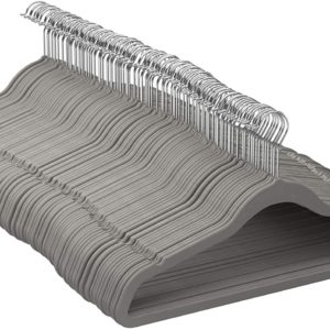 AmazonBasics Velvet Hangers 100-pack